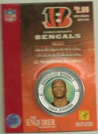 2006 Cincinnati Bengals Medallion, Chad Johnson (Ochocinco)
