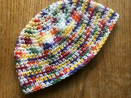 """Crocheted Child's or Young Adult Hat Multi Colors """"Makes a Great Gift"""""""