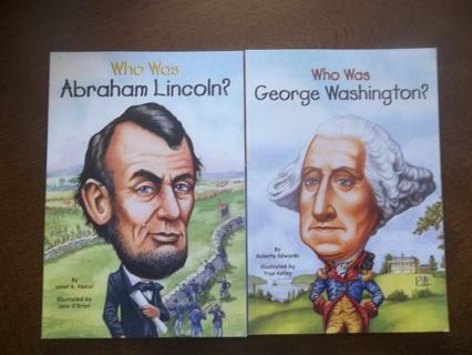 George Washington + Abe Lincoln Books