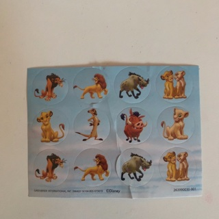 Sheet of stickers