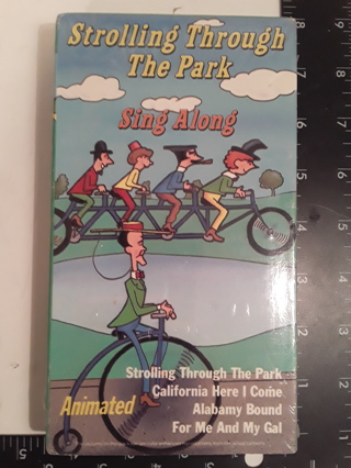 1993 Strolling Through The Park Sing Along VHS (NEW)