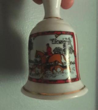 Vintage 1960's State of Virginia Ceramic Bell Handpainted