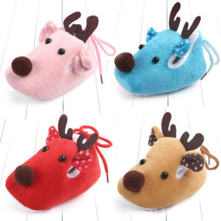 [GIN FOR FREE SHIPPING] Kids Baby Infant Christmas Fawn Deer Shoes Soft Toddler Warm Winter Boots