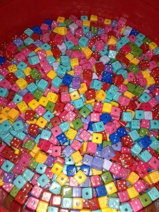 Rainbow Dice Beads