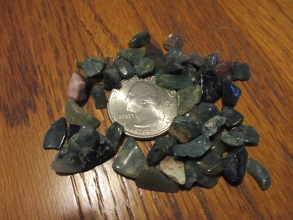 Green Agate Naturally Tumbled Chips