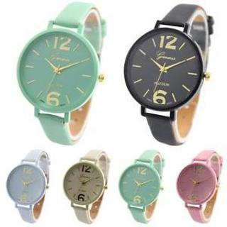 Fashion Women Geneva Roman Watch Lady Leather Band Analog Quartz Wrist Watch New