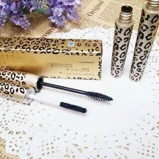 2PCs Lash Extension Mascara 3D Fiber Leopard Eyelash Long Curling Black Mascara