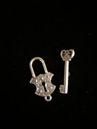 Lock & Key Charm