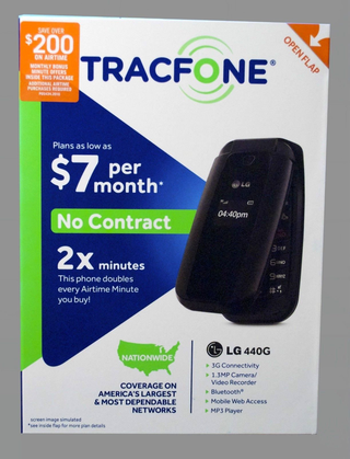 Free: TracFone LG 440G - Prepaid Includes Double Minutes for