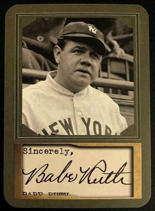 Babe Ruth D. Gordon Portrait ACEO Promo Card Die-Cut Card New York Yankees