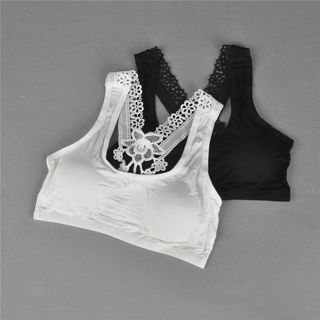 Young Girls Bra Lace Puberty Girl Underwear Wirefree Bra for Teens Vest