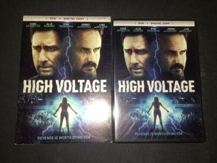 2018 HIGH VOLTAGE-HORROR DVD Movie + Digital-New & Sealed + Slipcover!