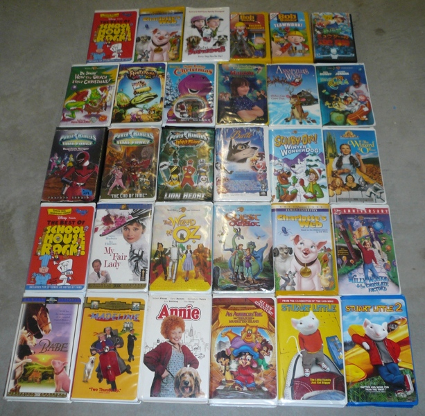 Free Second Lot 30 Vhs Clamshell Movies Classic Wizard Of