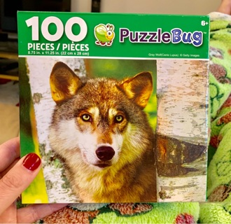 Brand New Factory Sealed Gift Quality Puzzle Gray Wolf (Canis Lupus) 100 Pieces Age 6 +