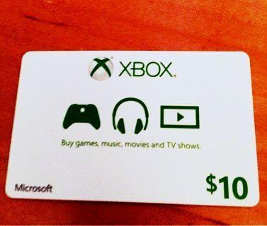 xbox live $10 code