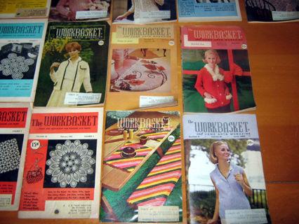 Free 15 Vintage Workbasket Magazine Crochet Patterns 50s