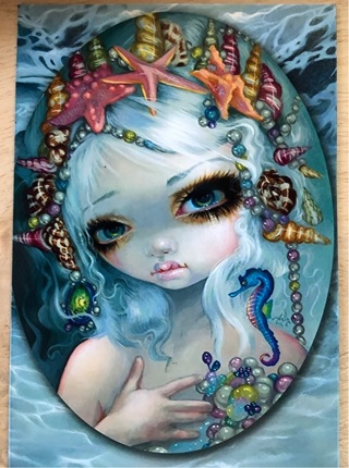 """Beautiful Big Eyes with shells - 3 x 4"""" MAGNET"""