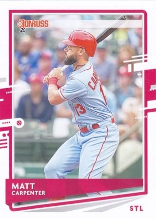 Matt Carpenter 2020 Panini Donruss St. Louis Cardinals