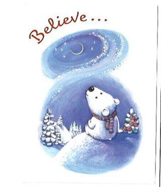 Christmas Card Unused With Envelope Bear