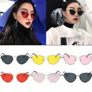 Cat Eye Oversized Fashion Style Women Sunglasses Gradient Lens Oval Frame New