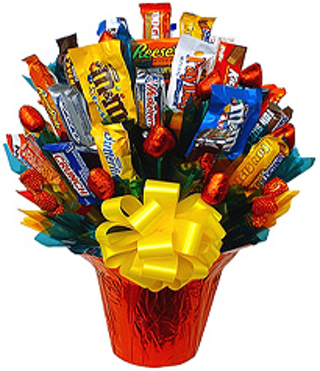 Free Diy Candy Bouquet For Valentines Day Other Art