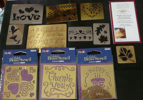Stainless Steel and Brass Stencils for Art Projects and Craft