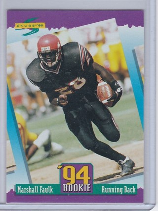 Free Marshall Faulk Rookie Card 1994 Score Football Nfl