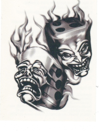 Free comedy tragedy masks tattoo other for Comedy and tragedy tattoo