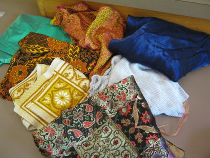 Lot Ethnic & Novelty Fabric Pieces