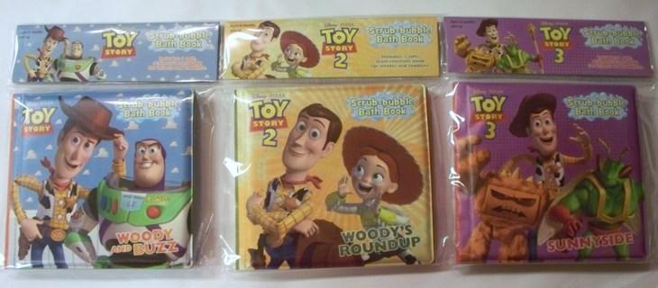 Free: 3 Scrub Bubble Bath Book Toy Story Disney Pixar - Baby Toys ...