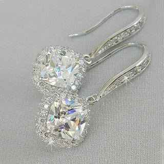 ✿Fast & Free Shipping✿ Elegant 925 Silver Drop Earring x1Pair