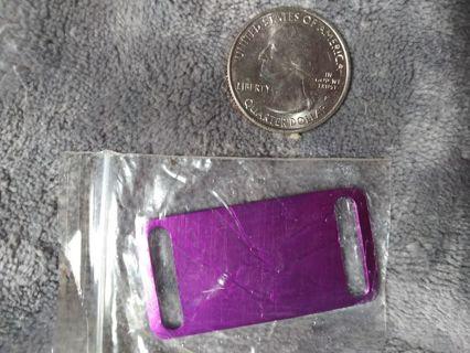1 large dog tag - purple