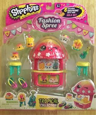 Shopkins fashion spree Tropical Collection (VHTF!)