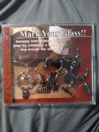Mark Your Wine Glass Decorative Rings -- For a Wedding Party or for a Special Dinner Occasion--NEW!!
