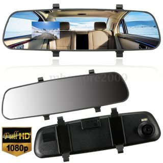 Car HD 2.7'' 1080P Rearview Mirror Dash Camera DVR Cam Video Recorder G-sensor