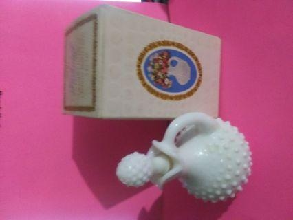 Avon - Vintage - Hobnail Decanter - Roses Roses Bath Foam - With Box