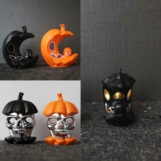 [GIN FOR FREE SHIPPING] Flameless Halloween Candle Light LED Lamp Pumpkin Skull