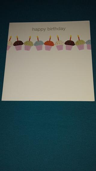 Happy Birthday Card - Cupcakes