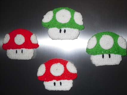 Free Mario Mushroom Crochet Magnet Pattern Needlecraft Listia