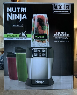 New Nutri Ninja auto iq 1000 watts never been used