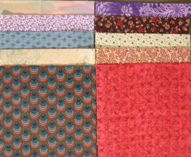 40 Fabric Charm Squares - Set #1
