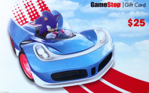 """$25 GAME STOP Gift Card """"Sonic The Hedgehog"""" COLLECTIBLE CARD *Emailed & Shipped*"""