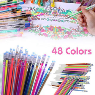Coloring Drawing Painting Craft Markers ,  48PCS/Set Glitter Gel Pens