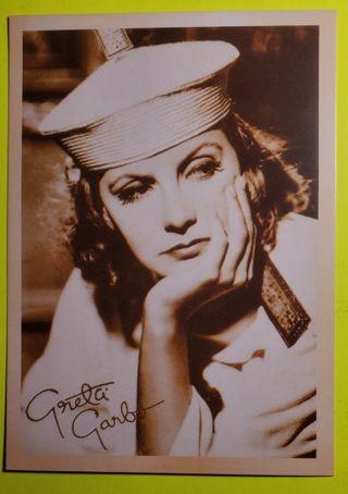 Greta Garbo Postcard
