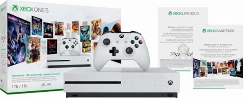 Microsoft - Xbox One S 1TB Starter Bundle with 4K Ultra Blu-ray - White