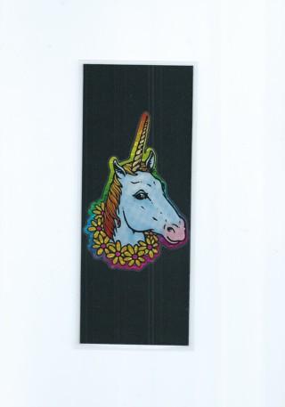 Unicorn XL Laminated Bookmark