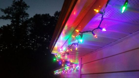 50 light clips christmas light bulb gutter mount for hanging xmas lights on house led