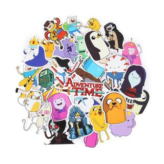TD ZW 30 Pieces/Lot American Drama Adventure Time Funny Anime Sticker Decal For Car Laptop Bicycle