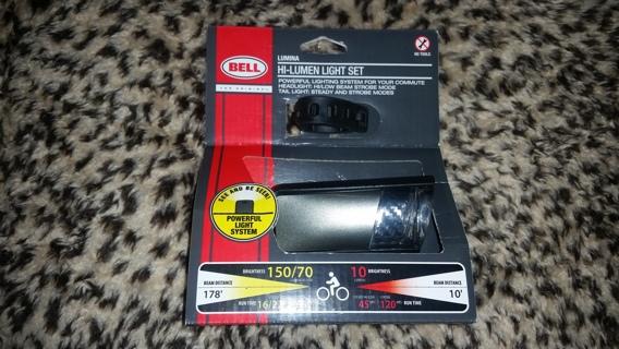 FREE NEW Bell Sports Black LUMINA Hi-Lumen BIKE Bicycle Light