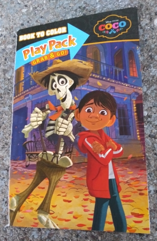 DISNEY PIXAR COCO SMALL COLORING BOOK WITH STICKERS USE YOUR OWN CRAYONS